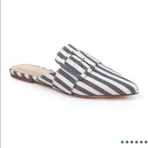 New in the box Anthropologie stripe mules
